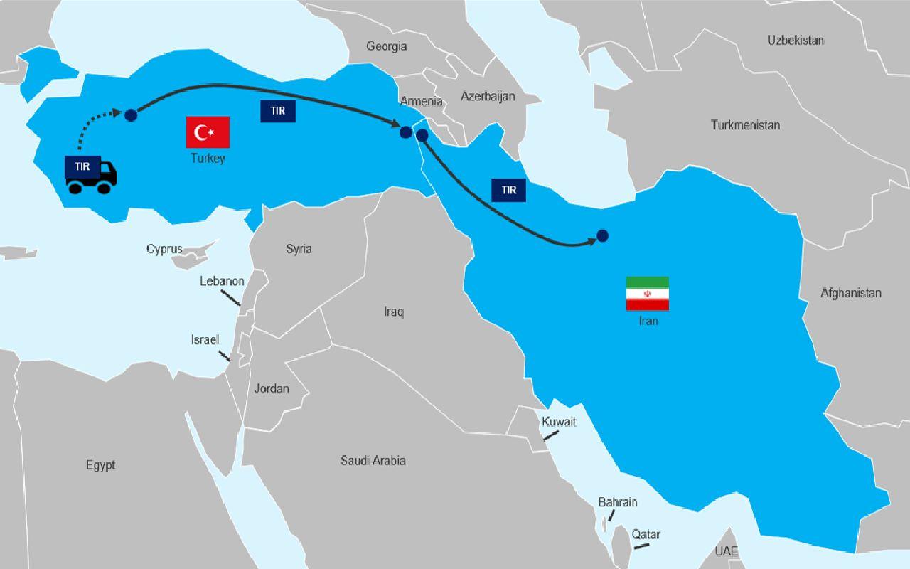 مسیر هوایی کارگو از ترکیه به ایران