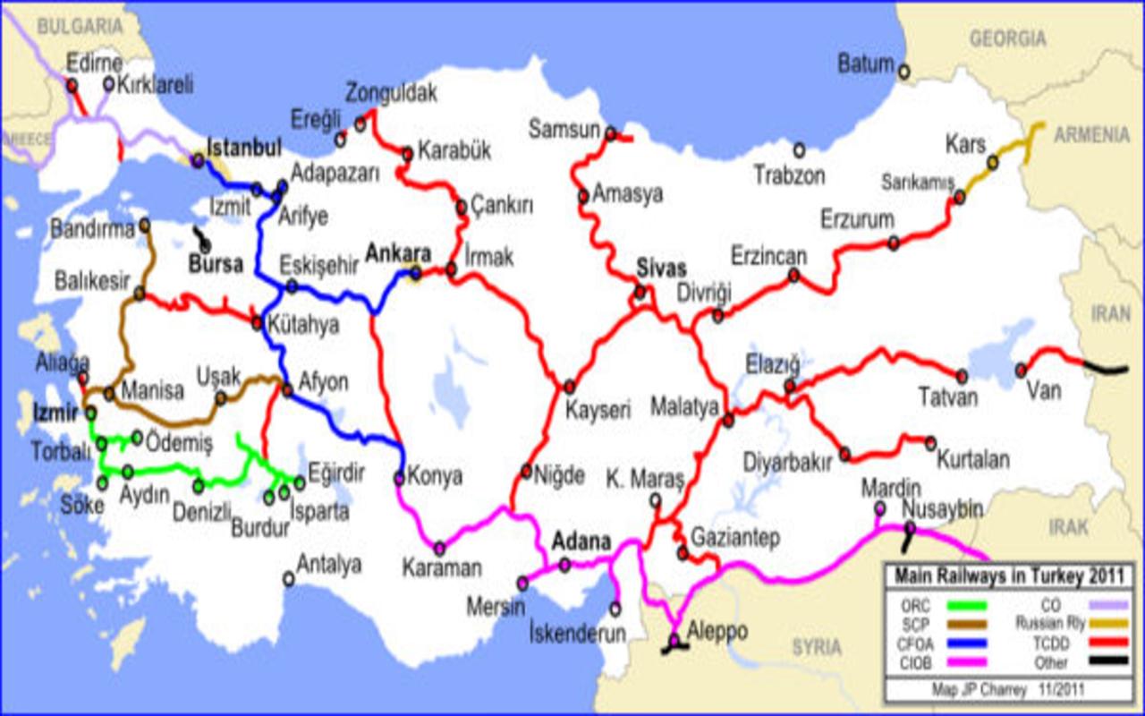 حمل بار از ترکیه با قطار