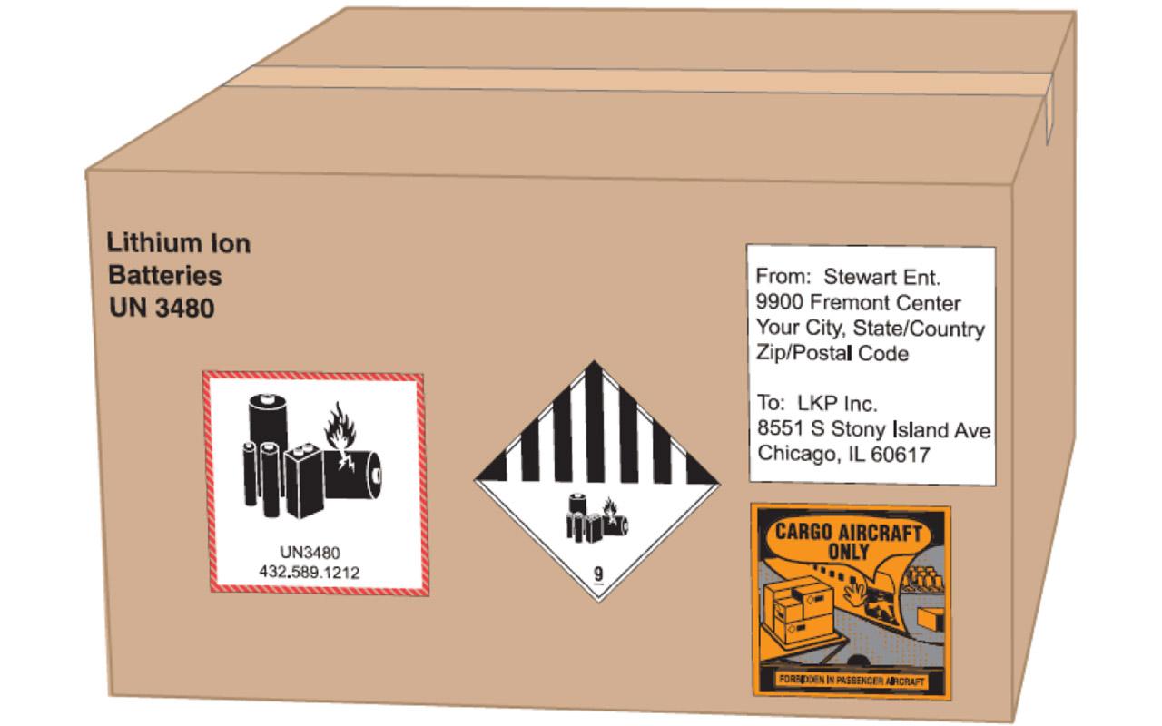 بسته بندی حمل هوایی باطری