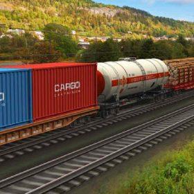 قطاری باربری در حال حمل بار به ترکیه